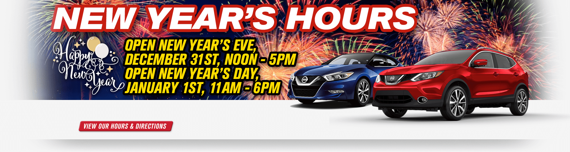 Passport Nissan VA Will Be Open This New Yearu0027s